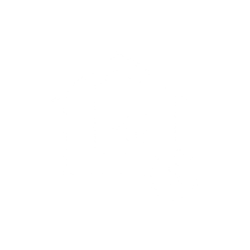 A graphic outline of a house with a percentage sign in front and a dollar sign on the bottom left